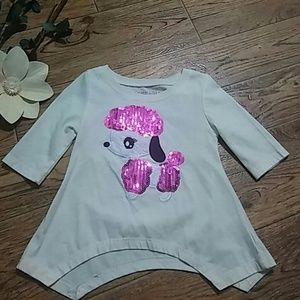 Cute Poodle Sequenced Top